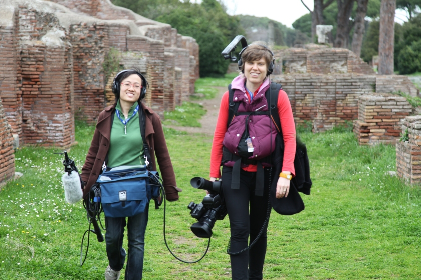 bec and shuling production photo in Ostia, Italy for Radical Grace